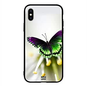 iPhone XS Max / 10s Max Case Cover Purple Green Butterfly Moreau Laurent Premium Design Phone Covers
