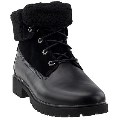 9490993be1e Timberland Women s Jayne Waterproof Teddy Fleece Fold Down Fashion Boot  Black Full Grain 5.5 ...