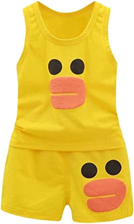 niños Bebes Animados Pato Camiseta + Pantalones Cortos ...