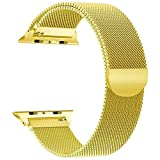Tirnga Compatible with Apple Watch Band 42mm, iWatch Bands 42mm Milanese Loop Men Series 3 2 1 Gold