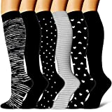 Copper Compression Socks Women & Men(6 Pairs) - Best for Running,Athletic Sports,Pregnancy,Flight Travel