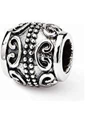 Sterling Silver Scroll Bali Charm Bead Fits Pandora Chamilia Biagi Bracelet