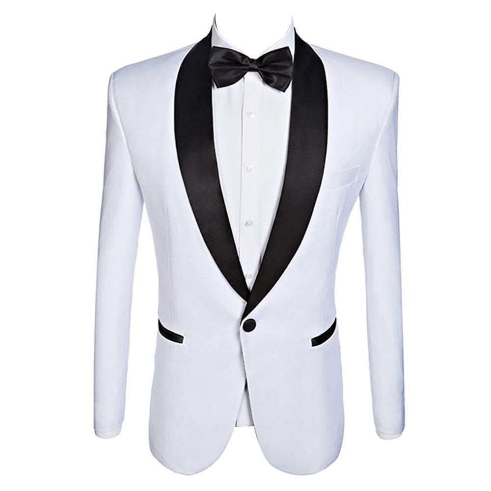 Mens Bright Colorful Suits Slim Fit Tuxedo Wedding Groom Suits,White,Yellow,Lavender,Blue