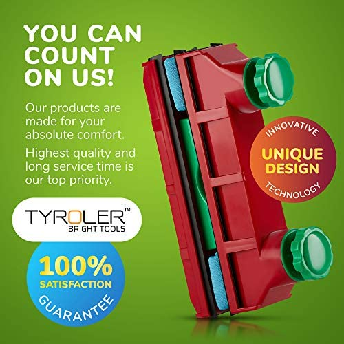 Tyroler Bright Tools Lave Vitre Magnétique Glider D-4 Double nettoyant intérieur et extérieur des vitres | Simple, Double ou Triple Vitrage 2-40mm | Force magnétique réglable - Home Robots