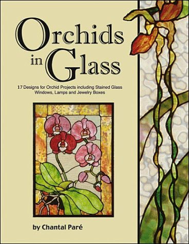 Orchids in Glass - 17 Designs of Stained Glass Windows Lamps & (Boxed Window Glass)