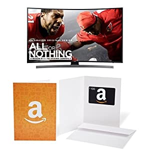 Samsung UN55KU6600 Curved 55-Inch 4K Ultra HD Smart LED TV with $100 Amazon.com Gift Card