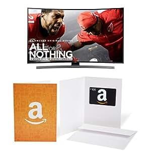 Samsung UN55KU6600 Curved 55-Inch 4K Ultra HD Smart LED TV with $100 Amazon.com Gift Card