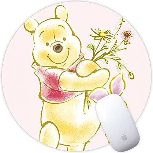 - DISNEY COLLECTION Square Round Computer Mouse Pad Winnie The Pooh and The Piglet Holding Flowers Light Slim Skid Proof High Mouse Tracking for Office, Gaming and Home