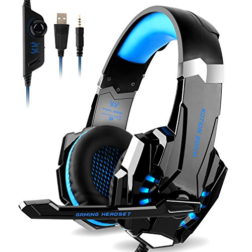 51NVLCSPJhL - DIZA100 Kotion Each G9000 Gaming Headset Headphone 3.5mm Stereo Jack with Mic LED Light for Xbox One S/Xbox one/PS4/Tablet/Laptop/Cell Phone