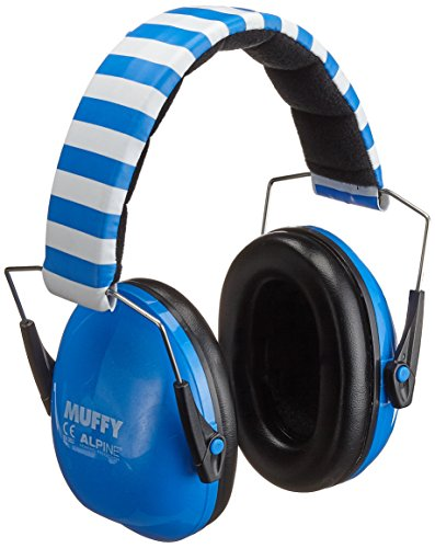 Alpine Hearing Protection Alpine Muffy Muffs, Ear Protectors for Kids, Blue, (AMS BLU)