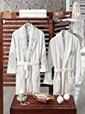 Bathrobe Towel Set with Lace and Floral Embroidery for Bride Including: Bath Robes, Bath Towels, Hand Towels and Slipper.