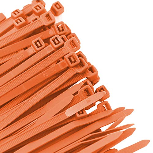 Pro Tie OR11SD100 11.8-Inch Orange Standard Duty Color Cable Tie, Orange Nylon, - Orange Cable Ties Nylon