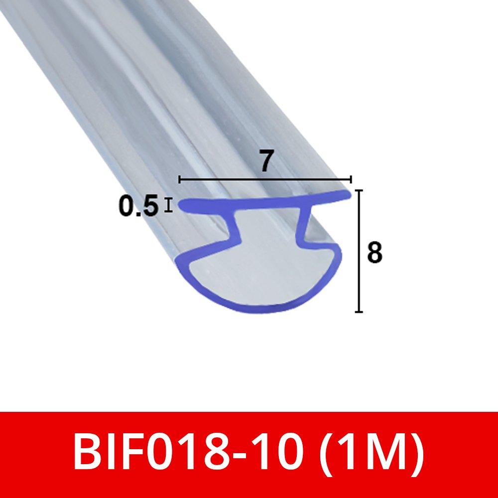 Sello de ducha de goma suave y flexible para puertas plegables Bi BIF018 Shower Seal UK