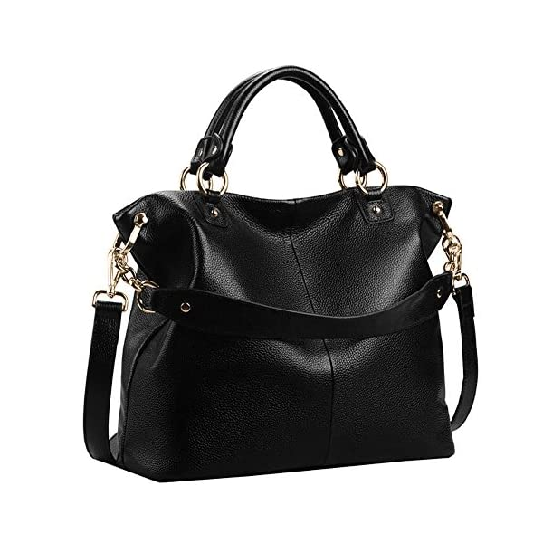 Kattee-Womens-Soft-Leather-3-Way-Satchel-Tote-Handbag