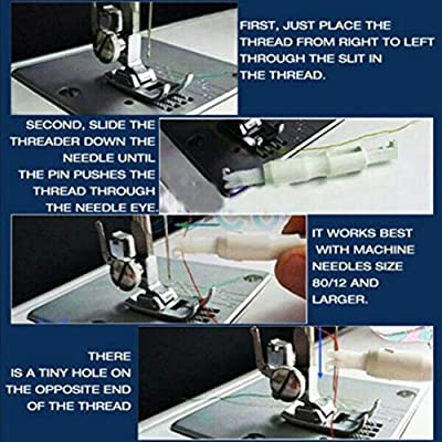 Greyghost Insertador de aguja de coser Enhebrador automático de ...