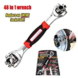 Universal Wrench 48 Tools In One Works with Spline Bolts 360 Degree Furniture Car Repair Hand Tools