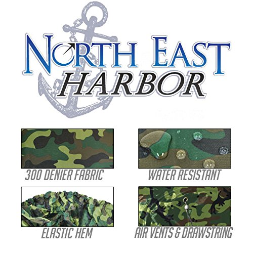 "North East Harbor Deluxe Riding Lawn Mower Tractor Cover Fits Decks up to 54"" – Camouflage – Water, Mildew, and UV Resistant Storage Cover"