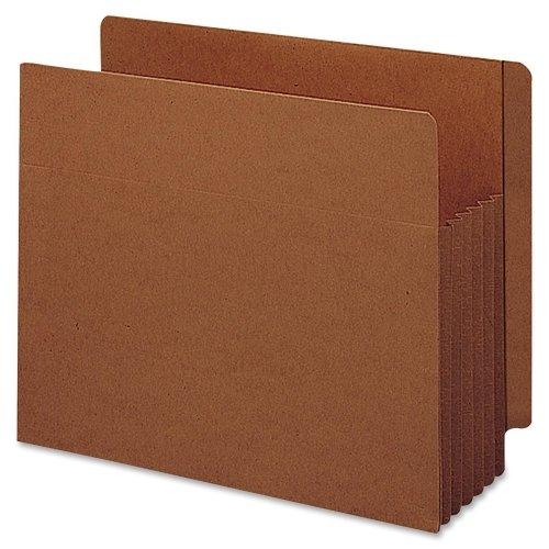 Wholesale CASE of 5 - Smead Tuff Pocket End Tab File Pockets-End Tab File Pockets, 5-1/4'' Exp, 10/BX, Letter, Red