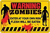Signs 4 Fun SPSZP5 Warning Zombies Small Parking Sign