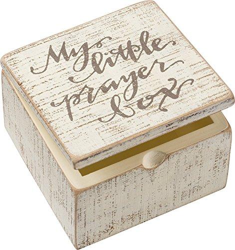 "Slat Box - Prayer Box SIZE: 4"" x 2.75"" x 4"""