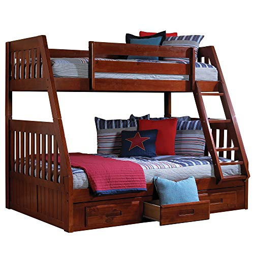Discovery World Furniture Mission Twin Over Full Bunk Bed wi