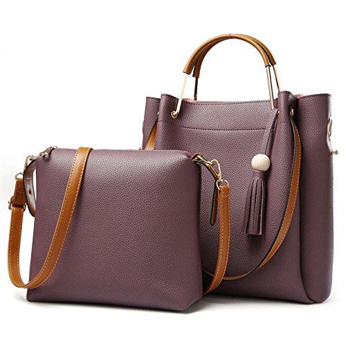 VINICIO Women's Fashionable Sweet Large Capacity PU Leather Shoulder Bag - Charles Box Pattern Johnson