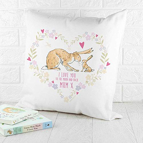 High quality Personalised Guess How Much I Love You Heart Wreath Cushion Cover - Pillow Cover - Nursery Decor - Baby Gift -1st Birthday