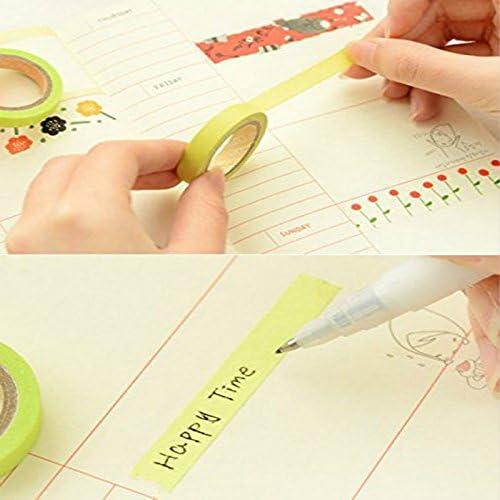 Artigianato MoGist 10 Rotoli di Nastro Adesivo Washi Decorazione Regalo Nastro Adesivo Decorativo per Fai da Te Semplice colorato Tinta Unita scrapbookbook