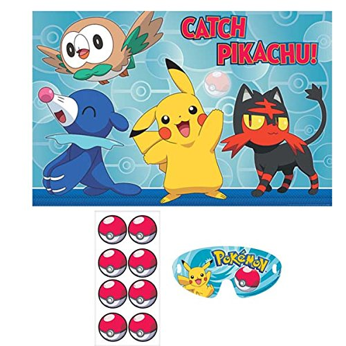 Pokemon Pokemon 'Sun and Moon' Party Game Poster (1 count) Birthday Party Supplies -