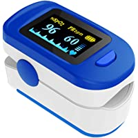 Wellue Fingertip Blood Oxygen Saturation Monitor with Batteries & Lanyard for Wellness Use FS20C