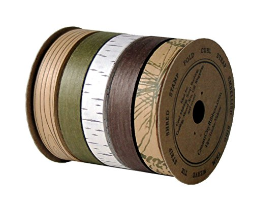 Cream City Ribbon Woodland Collection Cotton Curling/Craft Ribbon, 5 Ribbons, 1/2