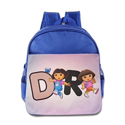 [Dora The Explorer4 Custom Unisex Kid School Backpack Soft] (Boots And Swiper Costumes)