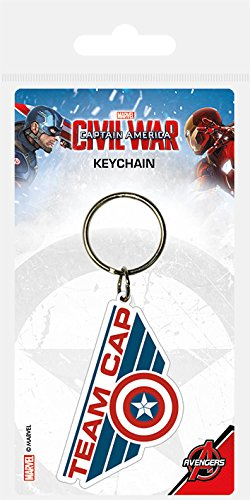 Price comparison product image Captain America Civil War Rubber Keychain Team Cap 6 cm Pyramid International Marvel Comics Portachiavi