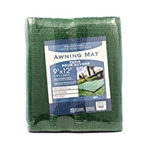 Camco 42820 RV Awning Leisure Mat (9' x 12', Green)
