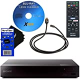 Sony BDP-S3700 Blu-Ray Disc Player with Built-in Wi-Fi + Remote Control + Xtech Blu-Ray Disc Laser Lens Clner + Xtech High-Speed HDMI Cable w/Ethernet + HeroFiber Gentle Cleaning Cloth