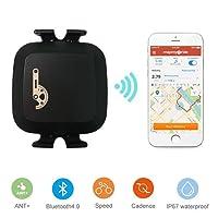 TAOPE Waterproof Bluetooth & ANT+ Dual Mode Cycling Speed/Cadence Sensor Computer speedometer (bike candence sensor)