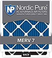 Nordic Pure 20x30x1 MERV 7 Plus Carbon AC Furnace Air Filters, Qty 6