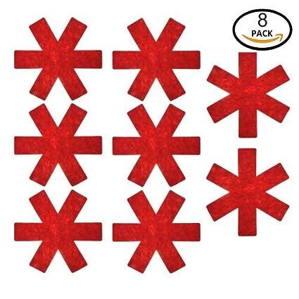 Gaeruite - Protectores de ollas y sartenes para ollas de mesa, separador de ollas y sartenes, telas no tejidas, protectores antideslizantes a prueba ...