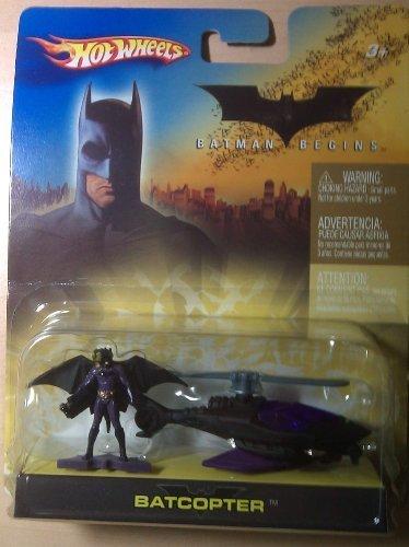 Hotwheels Batman Begins Batcopter and figure 1:64 Scale by Mattel