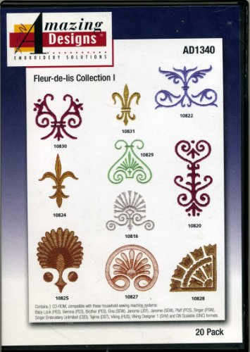Fleur-De-Lis Collection I 20 Designs Amazing Designs Embroidery Solutions