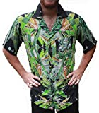 Hawaiian Shirts Mens Rayon Aloha Party Holiday Blueberry- S