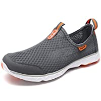 Dream Pairs Men's New Light Weight Comfort Sole Easy Walking Athletic Slip On Water shoes