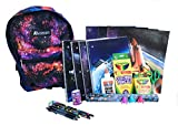 Galaxy of Stars Backpack Preassembled with Outer Space School Supplies – Spiral Notebooks, Folders, Art, Writing, Stickers