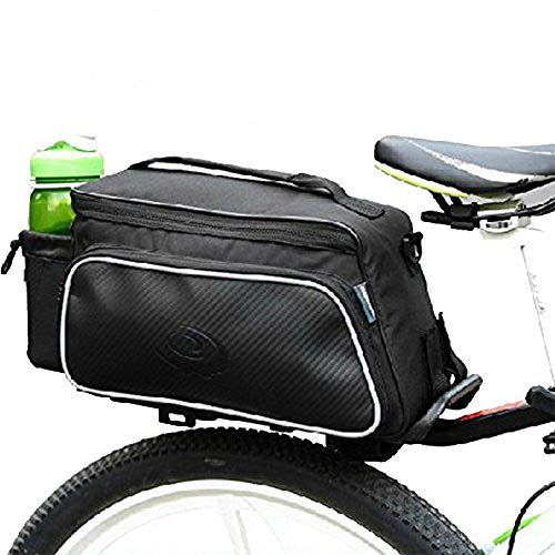 Rear Cooler Rack (Bike Rear Rack Bag for Men Women Kids, 1 Pcs Cooler Bicycle Seat Saddle Pannier Waterproof Bicycles Trunk Backpack for Cycling, Hiking, Travelling, Camping, Motorcycle, Black)