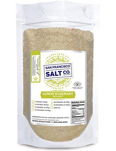 Lemon Rosemary Sea Salt (2lb Bag)