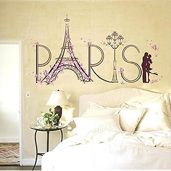 Lchen Paris Eiffel Tower Removable PVC Wall Sticker Home Kids Room Decor Art Decal 12.6x19.7