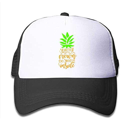 Amazon.com  Pineapple Stand Tall On Kids Trucker Hat b684be53869