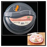 Plastic Microwave Plate Cover Clear Steam Vent Splatter Lid 10.25'' Food Dish