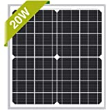 Newpowa 20W Monocrystalline Solar Panel with 3ft+1ft Wire,add Anderson connectors RV Marine Boat Off Grid