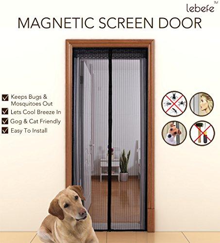 Lebefe Hands Free Mesh Magnetic Screen Door With Strong